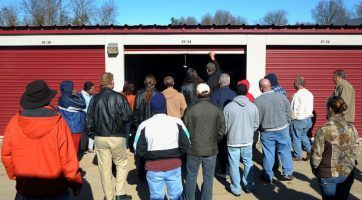 storage unit live auction