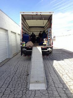 Moving truck at storage unit