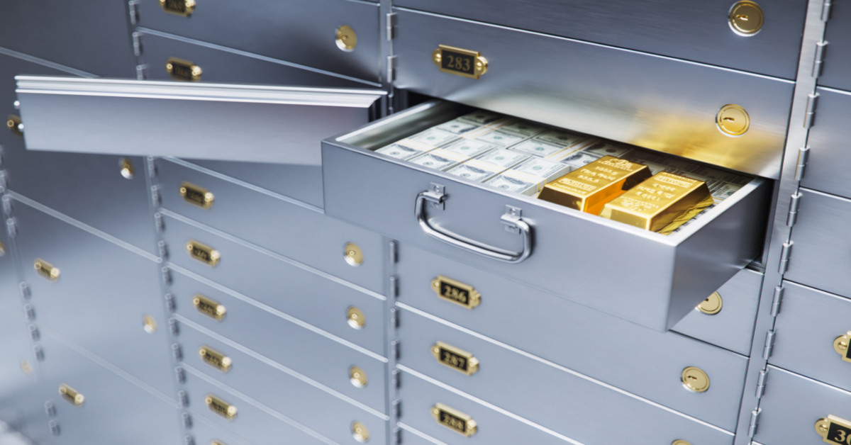 safety deposit box with valuables