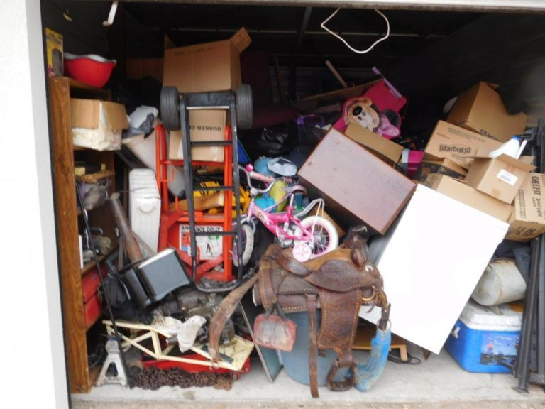 saddle and other goods in storage unit