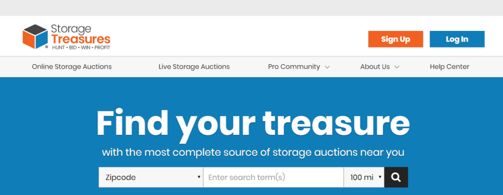 StorageTreasures Account Setup