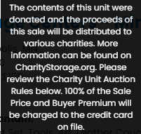 StorageTreasures Charity Storage Auctions More Information