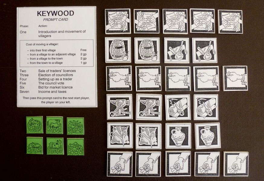 Valuable vintage board games from the Keywood Series